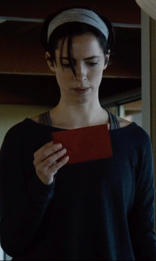 Rebecca Hall with Aspesi Boat Neck Sweater in The Gift