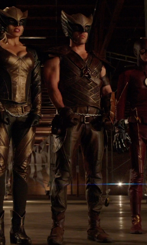 Falk Hentschel with Kate Main (Costume Designer) Custom Made 'Hawkman' Costume in Arrow