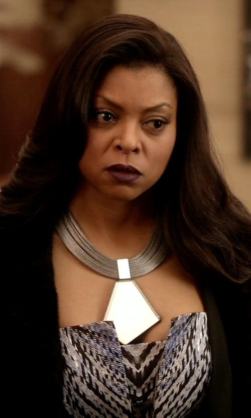 Taraji P. Henson with Alexis Bittar Stacked Baguette Bib Necklace in Empire