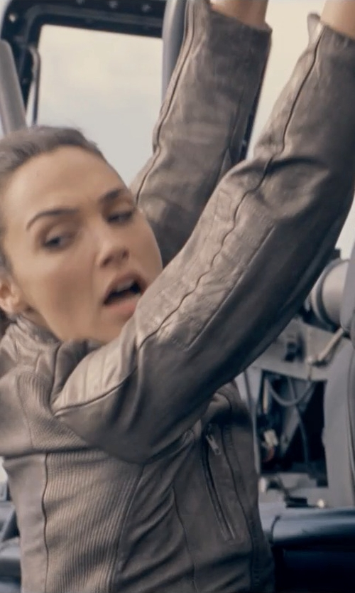 Gal Gadot with Bernardo Leather Moto Jacket in Fast & Furious 6
