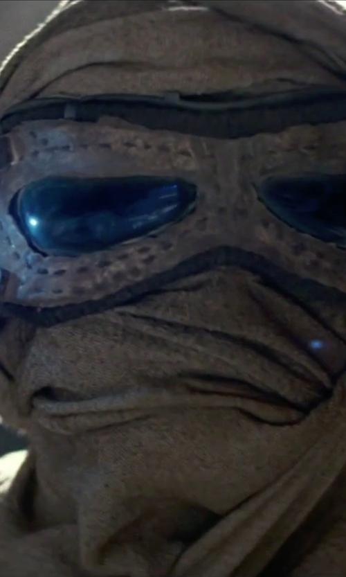 Daisy Ridley with Michael Kaplan (Costume Designer) Custom Made Scavenger Mask (Rey) in Star Wars: The Force Awakens