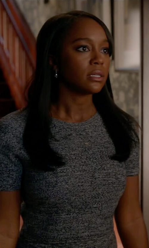 Aja Naomi King with Alice + Olivia Solange Cropped Wool Top in How To Get Away With Murder