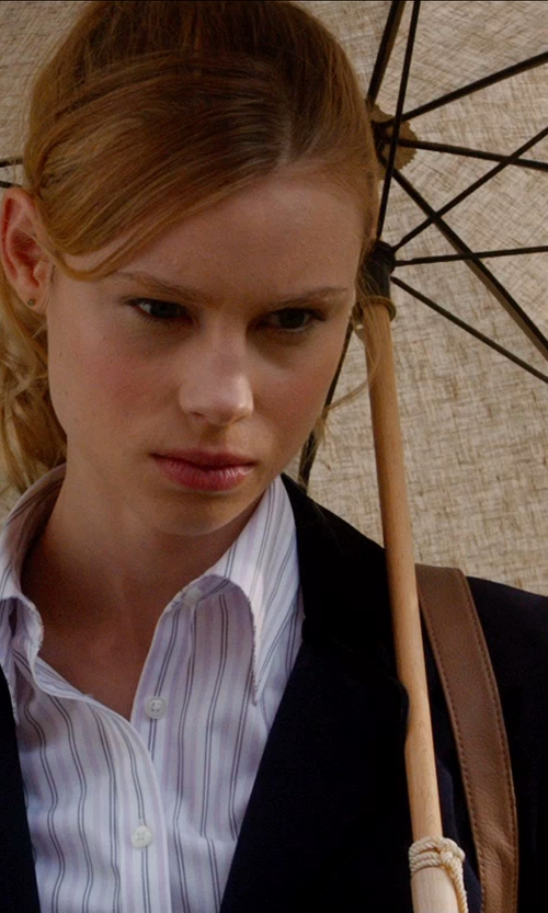 Lucy Fry with Koyal Wholesale Battenburg Lace Parasol Umbrella in Vampire Academy