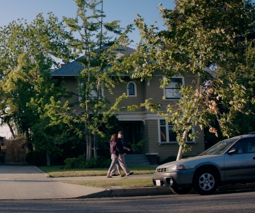 Seth Rogen with 2179 West 20th Street (Depicted as Radner Residence) Los Angeles, California in Neighbors
