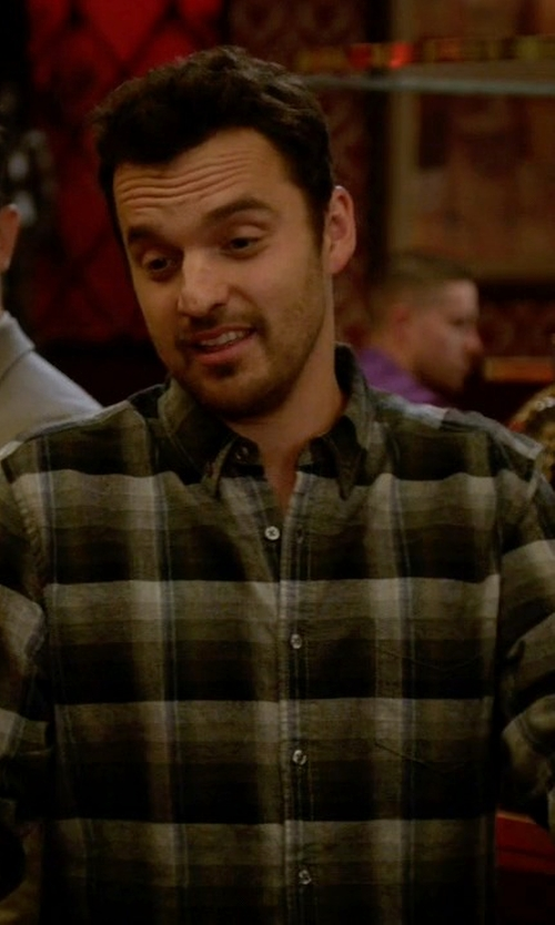 Jake Johnson with Life After Denim Ojai Brushed Plaid Flannel Shirt in New Girl