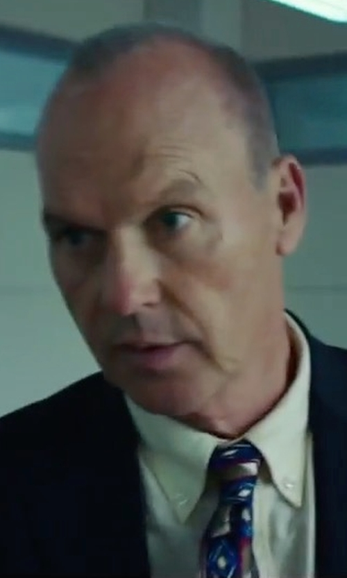 Michael Keaton with David Fin Printed Patch Tie in American Assassin