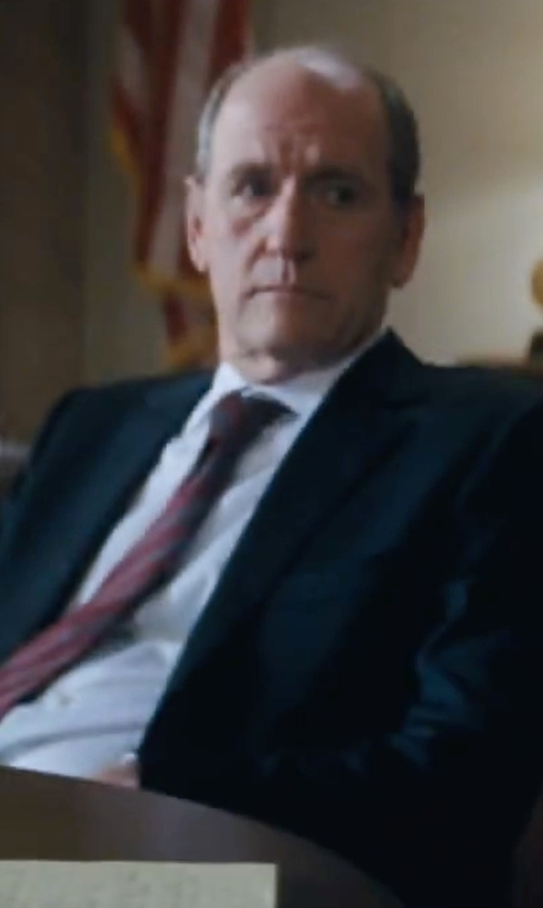 Richard Jenkins with Tommy Hilfiger Black Solid Classic-Fit Suit in Jack Reacher