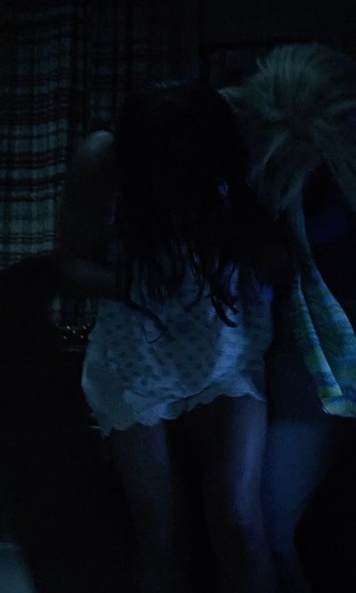 Stefanie Scott with True Religion Joey Cut Off Shorts in Insidious: Chapter 3