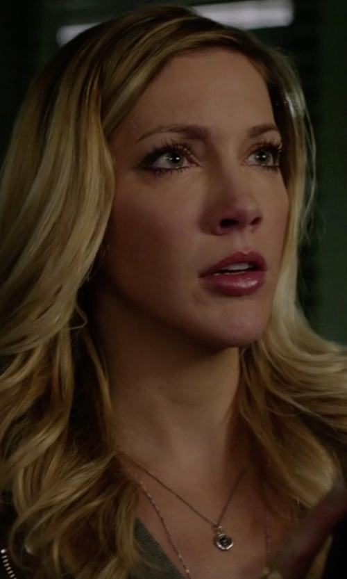 Katie Cassidy with Pyrrha Anchor & Butterfly Talisman Necklace in Arrow