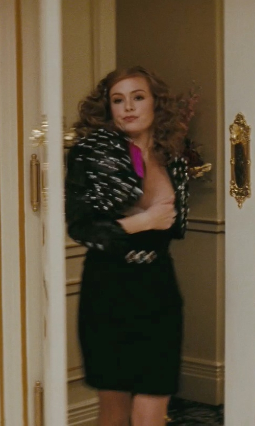 Isla Fisher with Salvatore Ferragamo Reversible Double-Gancini Belt in Confessions of a Shopaholic