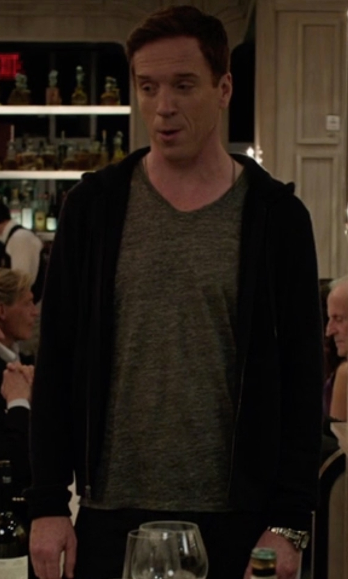 Damian Lewis with Y-3 Zipped Hoodie in Billions