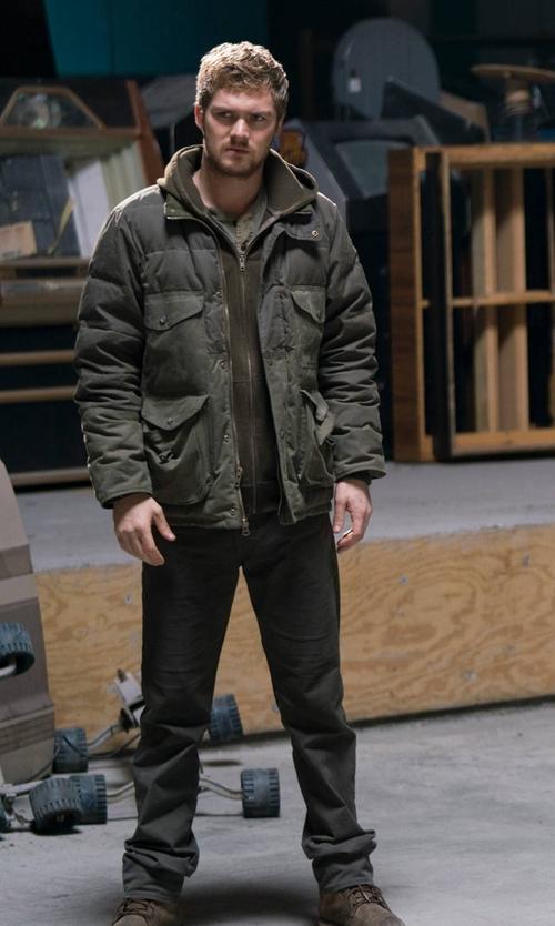 Finn Jones with Geox Makim Waterproof Plain Toe Boots in Marvel's The Defenders