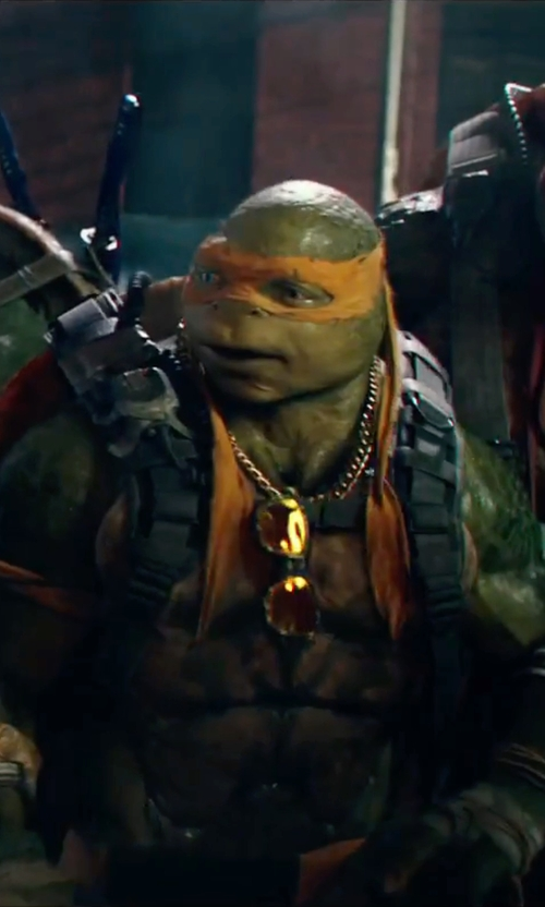 Noel Fisher with Wes Louie (Concept Illustrator) Michelangelo in Teenage Mutant Ninja Turtles: Out of the Shadows