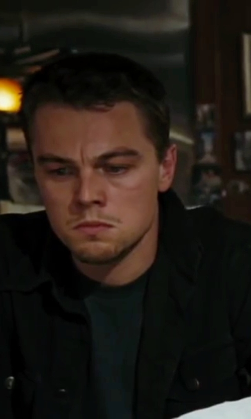 Leonardo DiCaprio with Givenchy Denim Jacket in The Departed