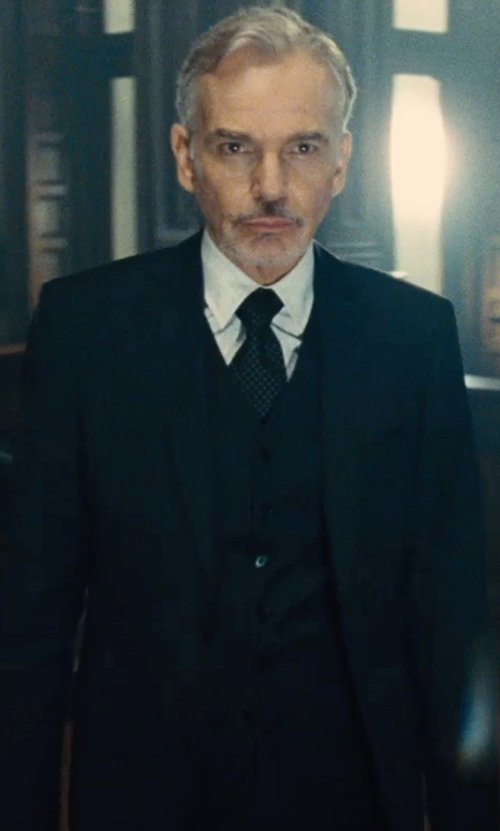 Billy Bob Thornton with Lanvin Slim-Cut Woven Dress Shirt in The Judge