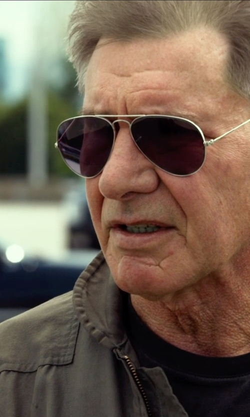 Harrison Ford with Ray-Ban RB3025 Aviator Sunglasses in The Expendables 3