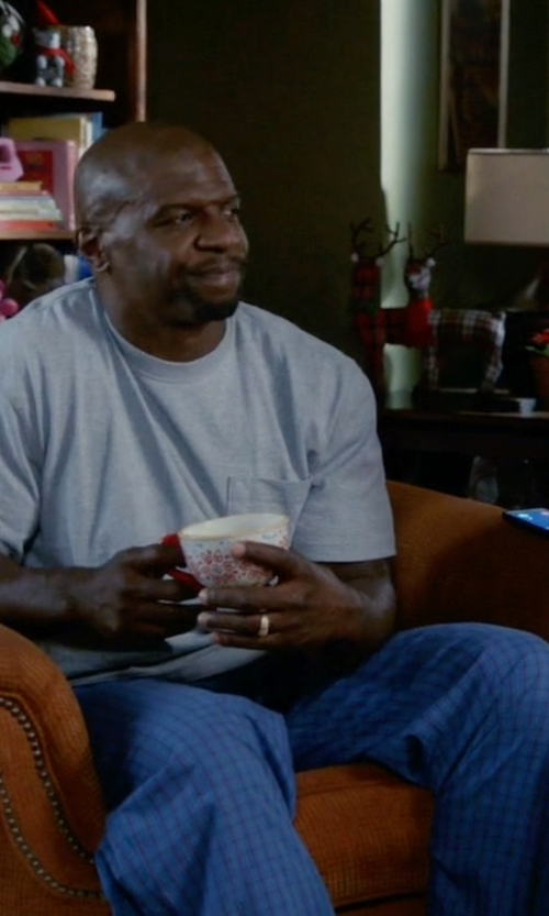 Terry Crews with Tommy Hilfiger Men's Sapphire Silky Fleece Sleep Pant in Brooklyn Nine-Nine