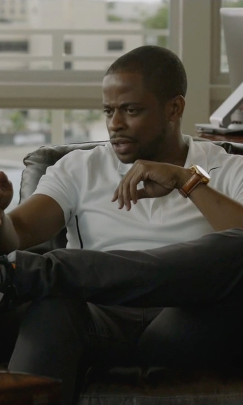 Dulé Hill with Adidas Running Duramo 6 Shoes in Ballers