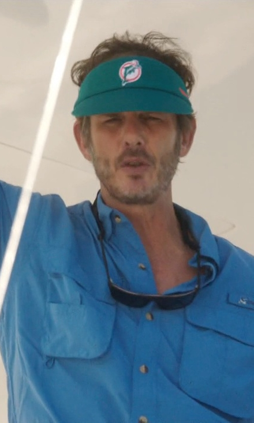 Peter Berg with Mitchell & Ness Miami Dolphins Throwback Adjustable Summer Visor Hat in Ballers