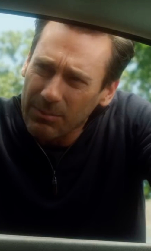 Jon Hamm with Calvin Klein  Men's Mock-Collar Sweater in Keeping Up with the Joneses