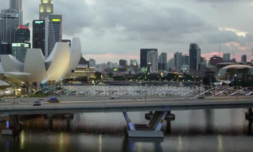 Unknown Actor with Helix Bridge Singapore in Hitman: Agent 47