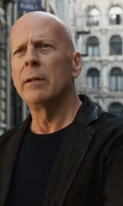 Bruce Willis with Gant Casual Twill Jacket in Death Wish
