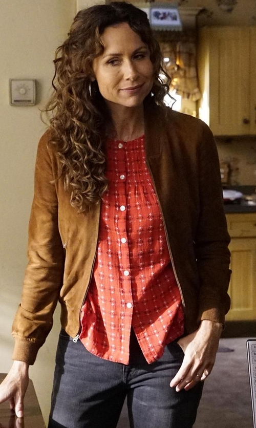 Minnie Driver with N & P  Bomber Jackets in Speechless