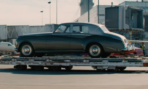 Unknown Actor with Rolls Royce 1963 Silver Cloud III Drophead Coupé in Mortdecai