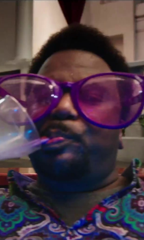 Craig Robinson with Pudgy Pedro's Jumbo Sun Glasses in Hot Tub Time Machine 2