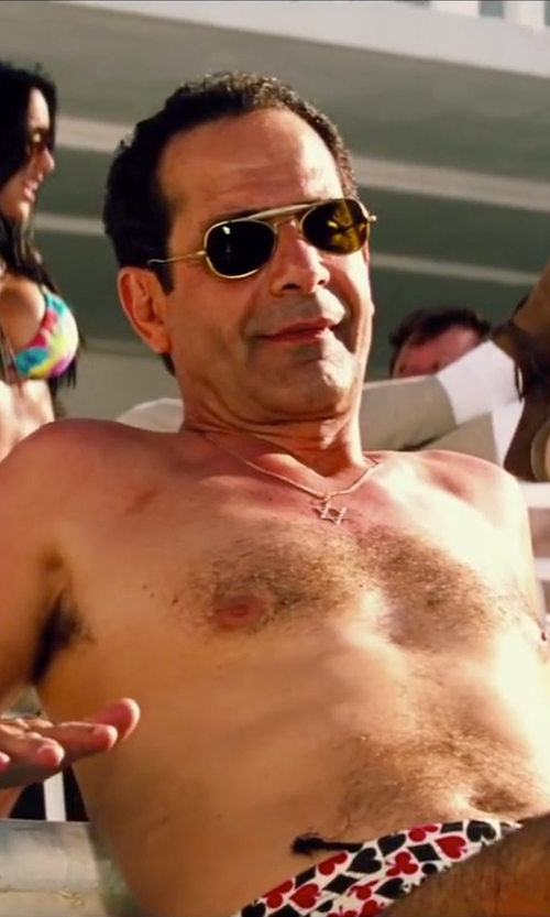 Tony Shalhoub with Ray-Ban Outdoorsman RB3030 Sunglasses in Pain & Gain