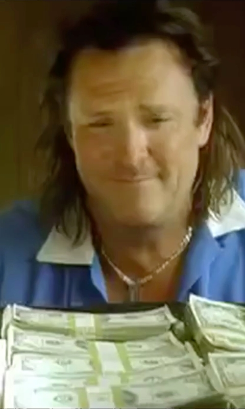 Michael Madsen with Alternative Feeder Striped Polo Shirt in Kill Bill: Vol. 2