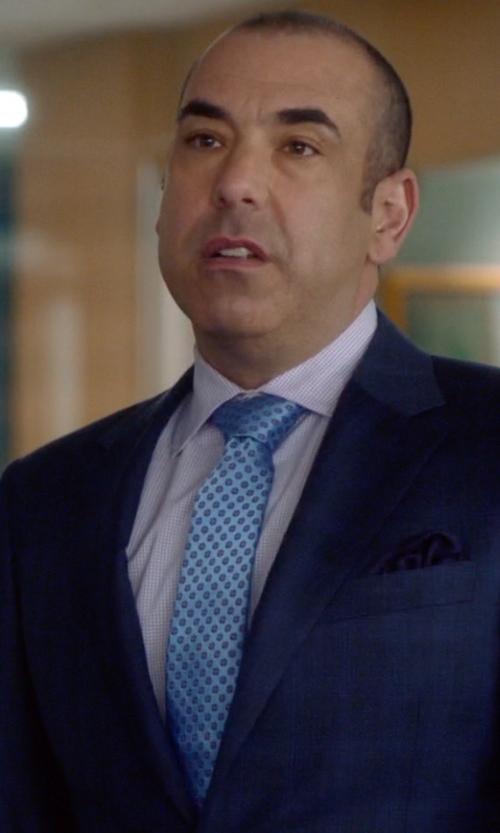 Rick Hoffman with Ermenegildo Zegna Dot Silk Tie in Suits