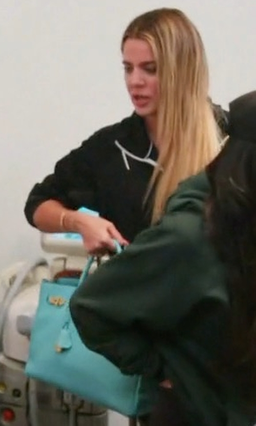 Khloe Kardashian with Hermès 2015 Clemence Birkin Bag in Keeping Up With The Kardashians