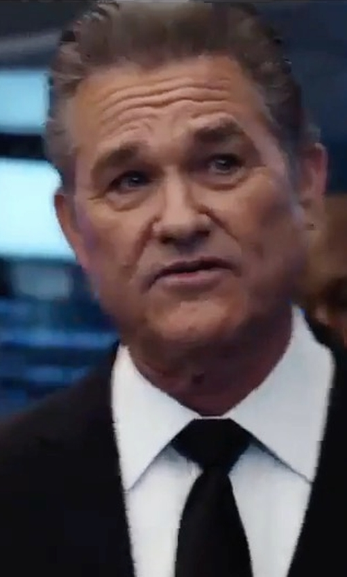 Kurt Russell with Burberry Modern-Fit Wool Suit in The Fate of the Furious