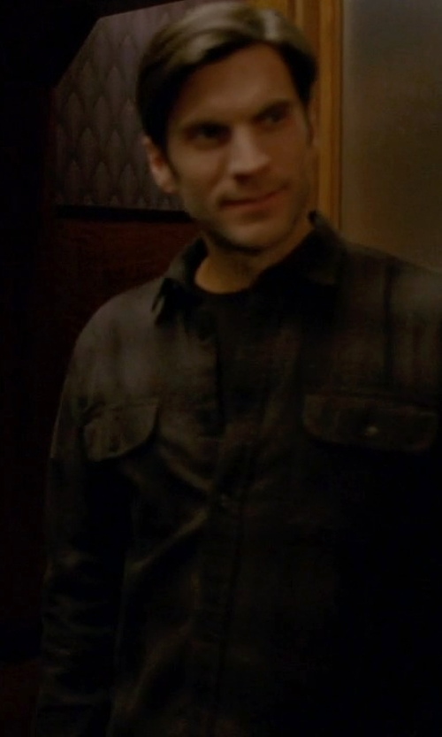 Wes Bentley with Theory Mikon Elmsford Shirt in American Horror Story