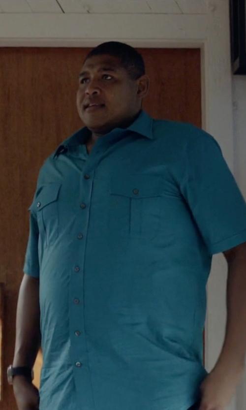 Omar Benson Miller with Polo Ralph Lauren Big Tall Linen Cotton Button Down Shirt in Ballers