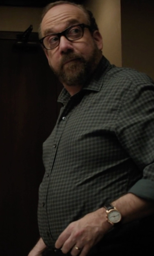 Paul Giamatti with Raymond Weil Crocodile Embossed Leather Strap Watch in Billions