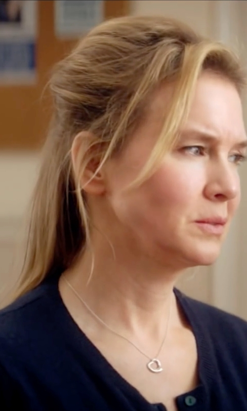 Renée Zellweger with Lauren Ralph Lauren Crewneck Cardigan in Bridget Jones's Baby