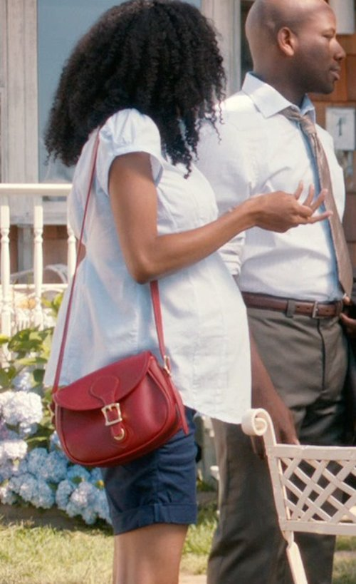 Yaya DaCosta with Madewell The Dylan Saddle Bag in And So It Goes