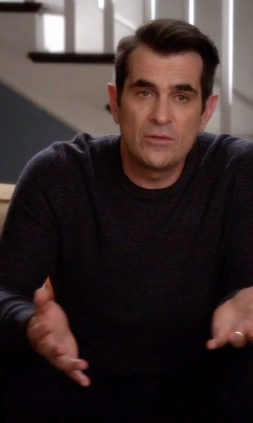 Ty Burrell with Scotch & Soda  Crew Neck Ribbed Knit Pullover Sweater in Modern Family