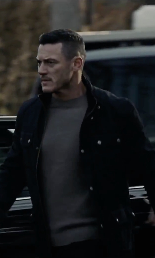Luke Evans with Ralph Lauren Modern Field Jacket in The Girl on the Train
