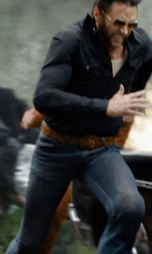 Hugh Jackman with Ralph Lauren Black Label Denim Prospector Jean in X-Men: Days of Future Past