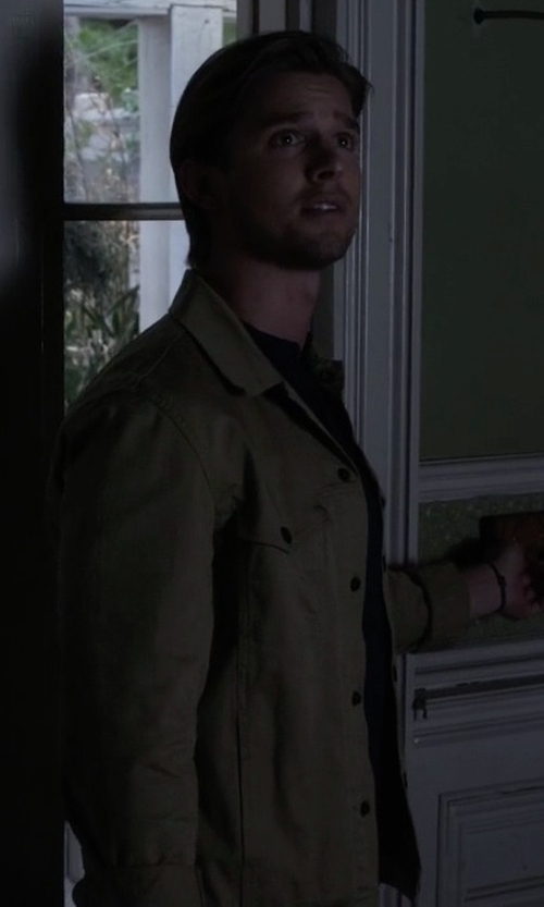 Drew Van Acker with Dockers Field Jacket in Pretty Little Liars