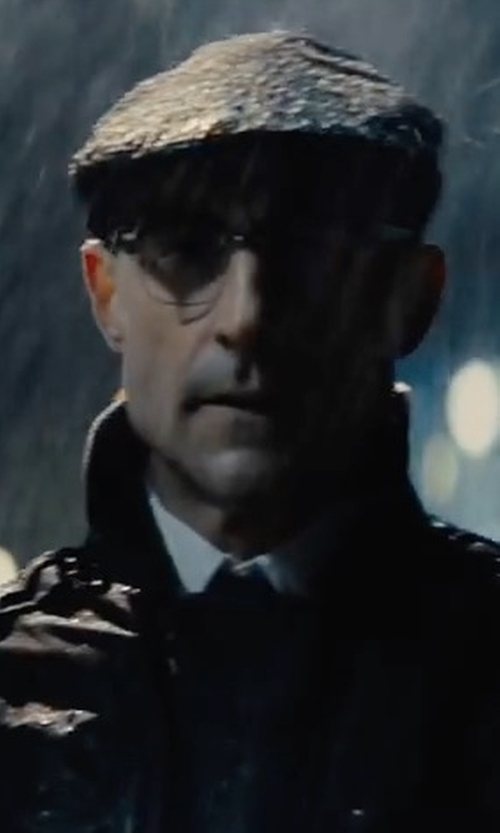 Mark Strong with Dolce & Gabbana Twill Flap Cap in Kingsman: The Golden Circle