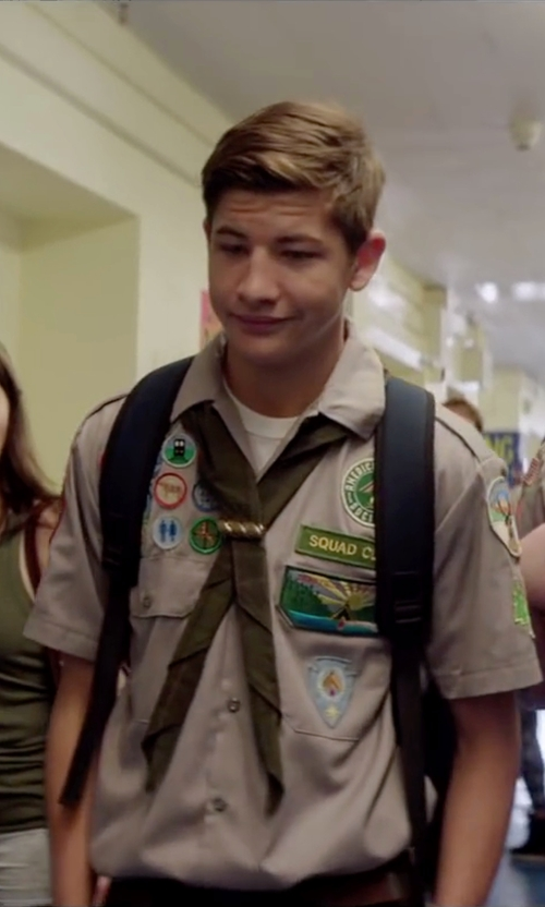 Tye Sheridan with Dickies Short-Sleeve Work Shirt in Scout's Guide to the Zombie Apocalypse