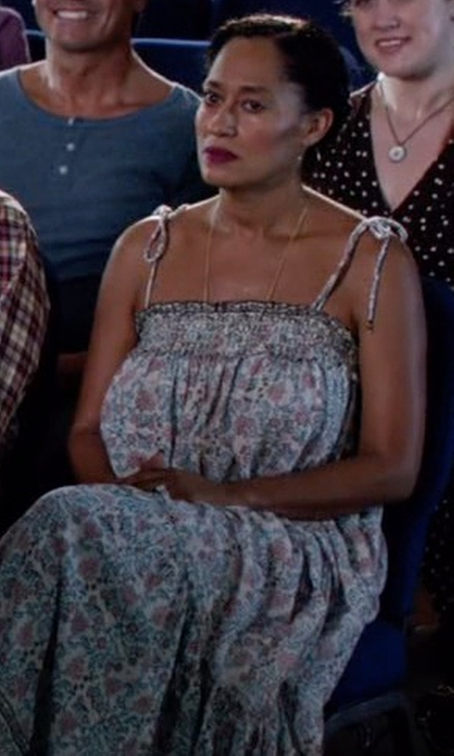 Tracee Ellis Ross with Ulla Johnson Kerala Maxi Dress in Black-ish