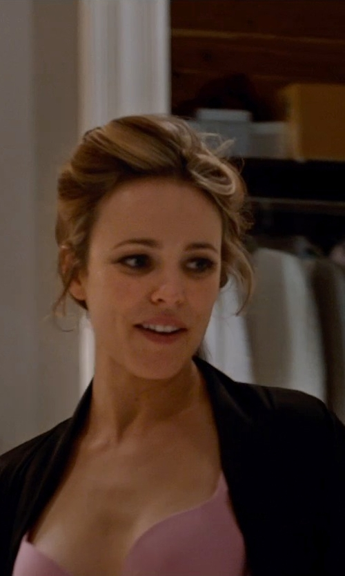 Rachel McAdams with James Perse Los Angeles Jersey Robe in Southpaw