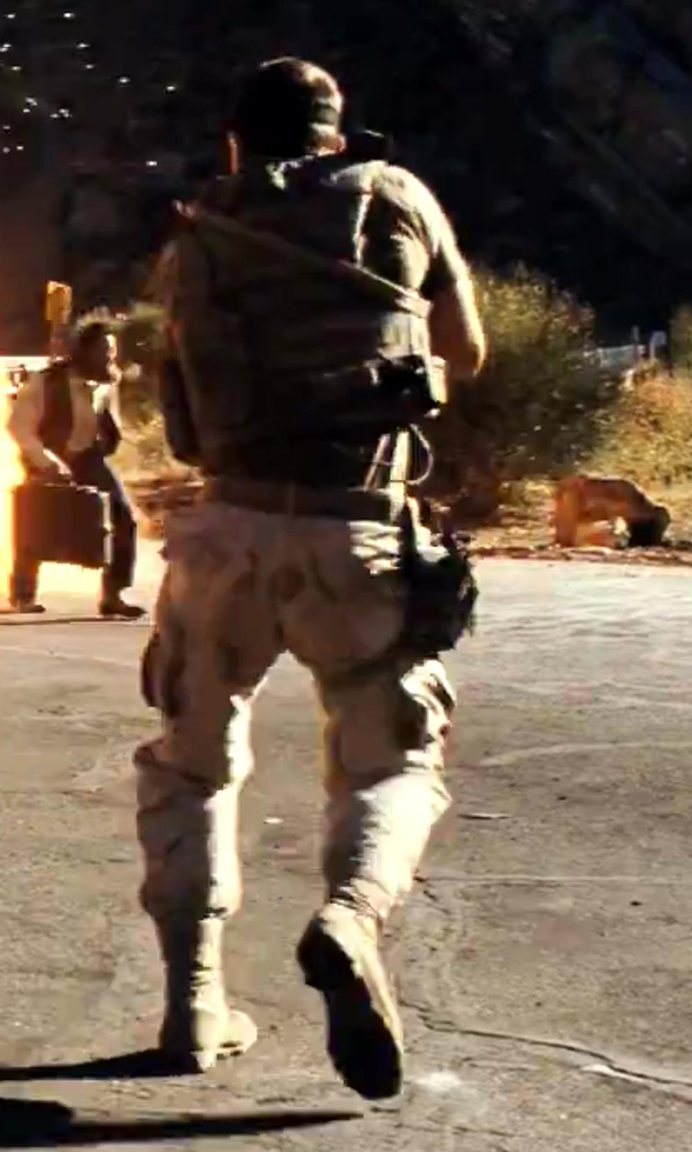 Taylor Kitsch with Danner Men's Desert Tfx Rough Out Tan GTX Military Boot in Savages