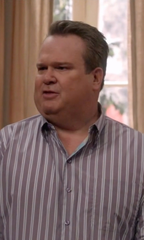 Eric Stonestreet with U Clothing Stripe Shirt in Modern Family