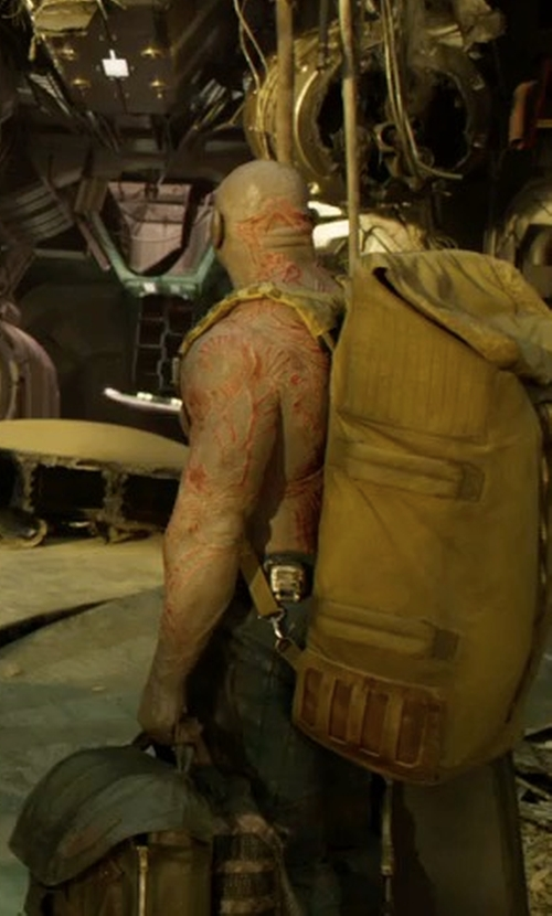 Dave Bautista with G Star Rovic Zip 3D Tapered Cuffed Pants in Guardians of the Galaxy Vol. 2